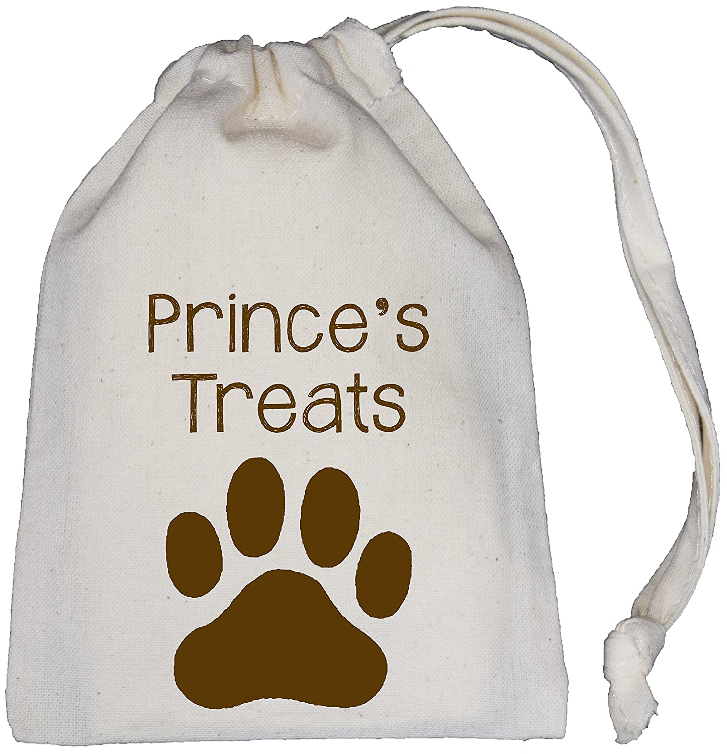 Personalised Dog Treat Bag - Natural (Cream) Cotton Drawstring Bag - 3 Sizes - SUPPLIED EMPTY