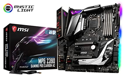 MSI MPG Z390 Gaming PRO Carbon AC LGA1151 (Intel 8th and 9th Gen) M.2 USB 3.1 Gen 2 DDR4 HDMI DP Wi-Fi SLI CFX ATX Z390 Gaming Motherboard Motherboards at amazon
