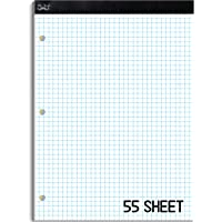 """Mr. Pen- Graph Paper, Grid Paper Pad, 4x4 (4 Squares per inch), 8.5""""x11"""", 55 Sheets, 3-Hole Punched, Grid Paper, Graph Paper Pad, Graphing Paper, Computation Pads, Drafting Paper, Blueprint Paper"""