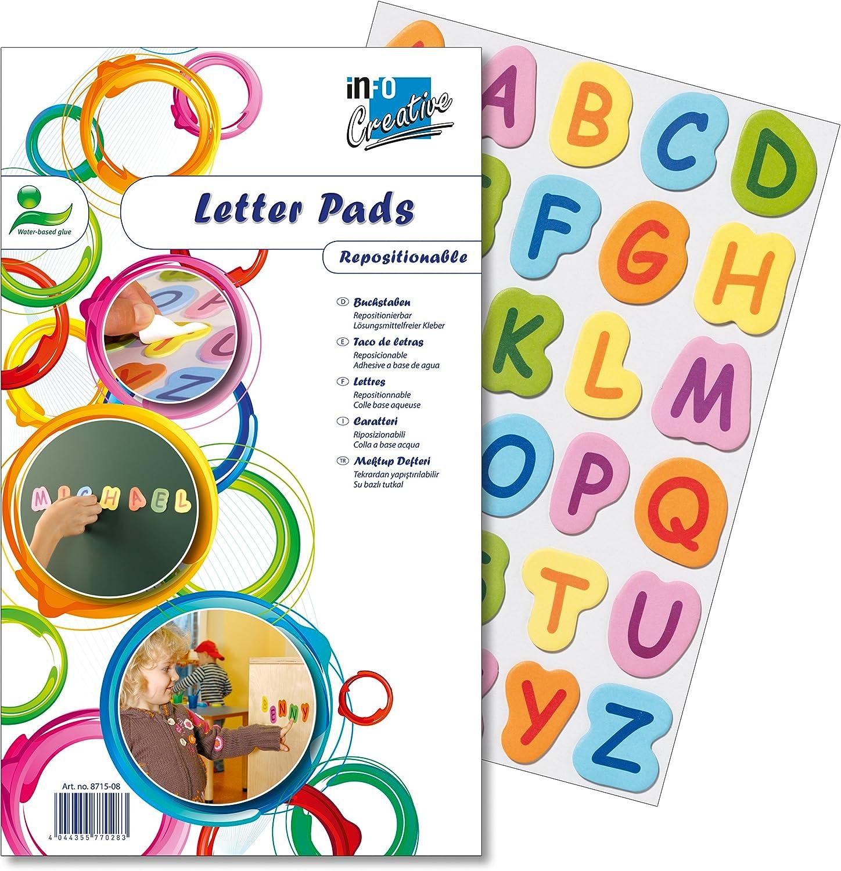 Global Notes Info Creative 8715-08 - Letras adhesivas (30 x 15 hojas)