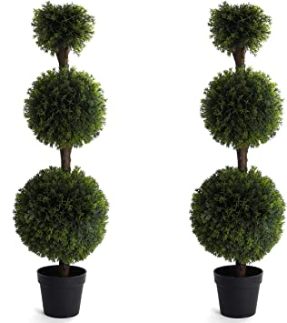 Bornbridge Artificial Cypress Topiary Ball Tree 4 Cypress Ball Tree Indoor Outdoor Topiary Trees Artificial Outdoor Plants Lifelike Cypress Plant 2 Pack Amazon Co Uk Kitchen Home