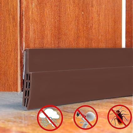 Sound Proof Door Strip   Under Door Sweep Weather Stripping Seal Draft  Stopper Sound Proof And