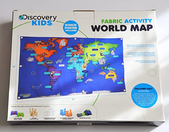Amazon discovery kids activity world map 76 pieces toys games gumiabroncs Image collections