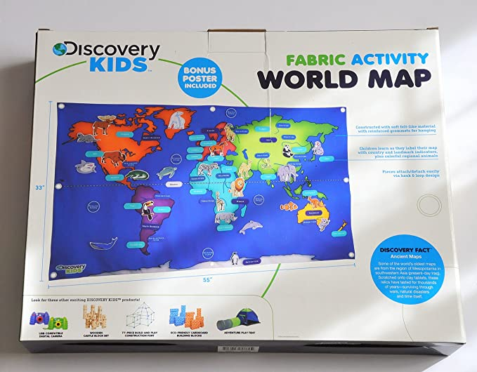 Amazon discovery kids activity world map 76 pieces toys games gumiabroncs Images