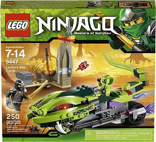 Amazon.com: LEGO Ninjago 9447 Lasha s Bite Ciclo: Toys & Games