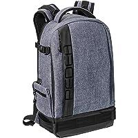"""PEDEA SLR-Kamerarucksack """"Fashion"""" Kameratasche Fotorucksack SLR Rucksack mit Regenschutz, variabler Inneneinteilung und Zubehörfächern, grau"""