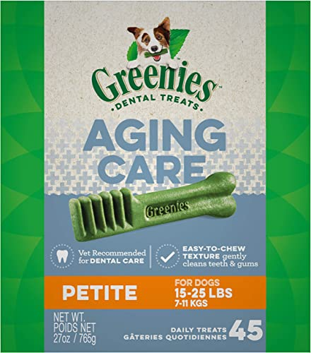 GREENIES Senior Aging Care Natural Dental Dog Treats, 27 oz. Pack
