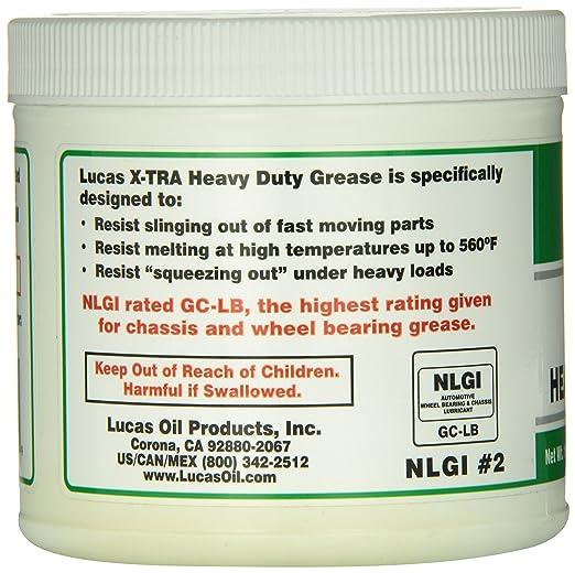 Lucas Oil 10330 X-Tra Heavy Duty Grease - 1 Lb. Tub Модель - фото 2