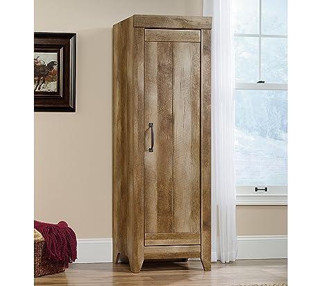 Amazon.com: Sauder 418137 Storage Cabinet, Furniture Adept Narrow ...