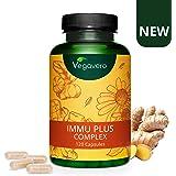 Difese Immunitarie Vegavero®   Completamente NATURALE   con Echinacea e Vitamina C   SENZA ADDITIVI   120 capsule   Vegan
