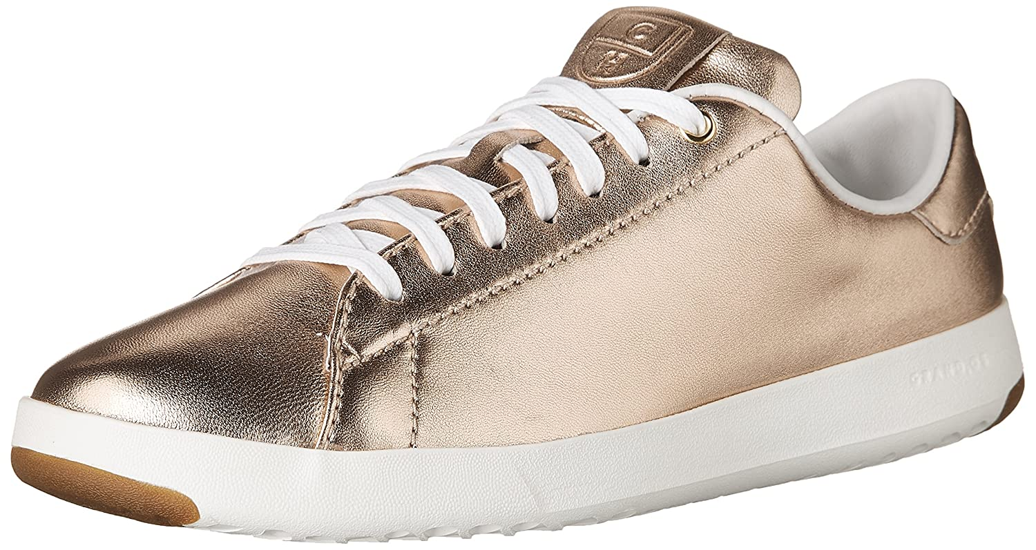 Cole Haan Women's Grandpro Tennis Leather Lace OX Fashion Sneaker B07214D7SZ 8.5 B(M) US|Metallic Rose Gold-optic White