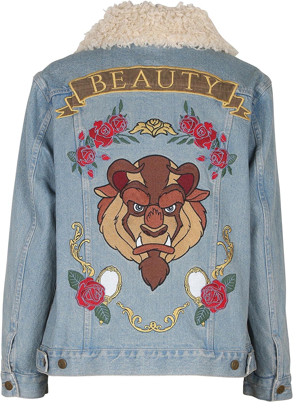 MINKPINK Womens Baroque-n Beauty Applique Removable Fur Jacket