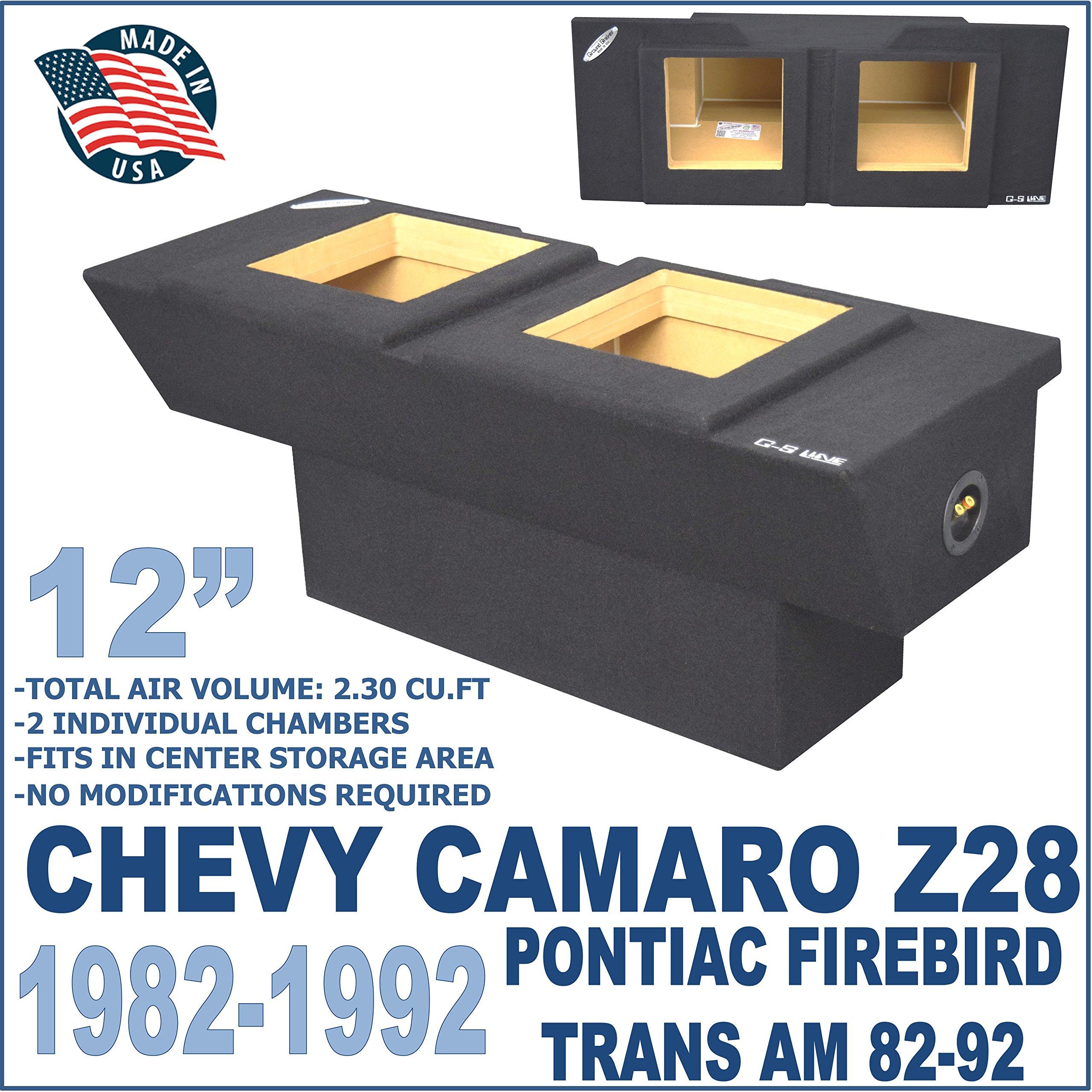 "Chevy Camaro Sub Box Z28 12"" Pontiac Firebird Trans Am Subwoofer Enclosure by Ground Shaker"