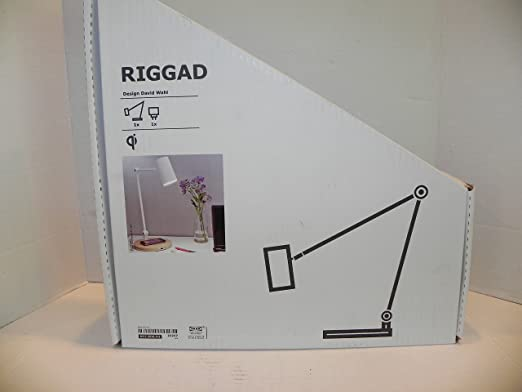 Ikea riggad led desk lamp with wireless charging amazon com