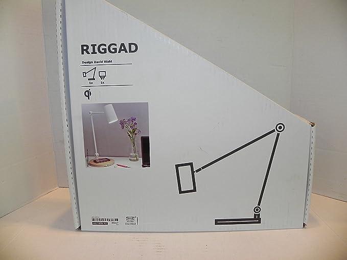Amazon.com: IKEA riggad LED lámpara de computadora con carga ...