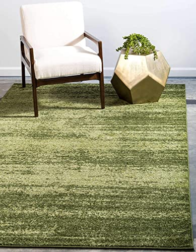 Unique Loom Del Mar Collection Contemporary Transitional Green Area Rug 10' 0 x 13' 0