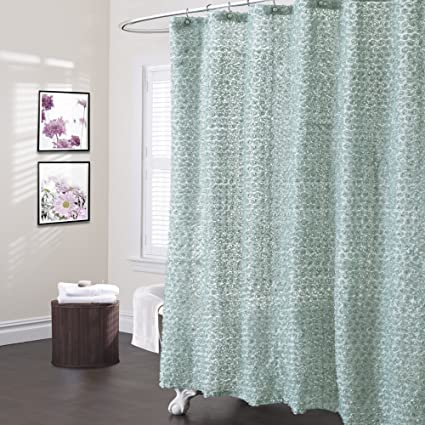 Lush Decor Rosely Shower Curtain 72quot X Seagreen