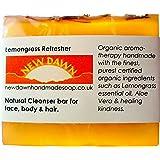 Handmade Natural Lemongrass Soap Bar - Range No.7 - Rosacea / Thread and Spider Veins Calming, Acne / Large Open Pore Relief - 75g