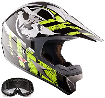 Off Road Casco LS2 MX433 Casco y Gafas Casco de Motocross MX Amarillo (L)