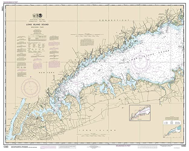 Amazon Com Long Island Sound Western Part 2014 Nautical Map