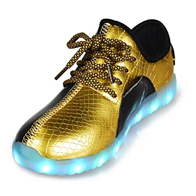 a643fabb897 QANSI Boys Girls  LED Light Up Shoes Unisex Glowing Sneakers Running Shoes  For Kids 2