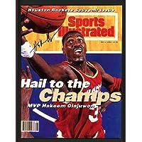 $115 » Hakeem Olajuwon Autographed Sports Illustrated Magazine Houston Rockets No Label #WP708344 - JSA Certified