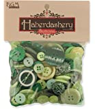 Buttons Galore Haberdashery Button, Green