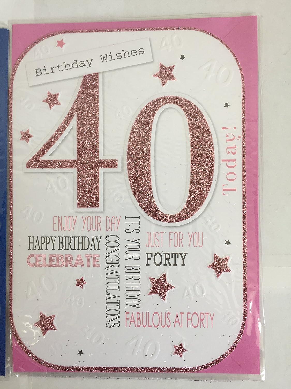 Ladies/hembra 40th edad 40 cuarenta deseos de cumpleaños 40 ...