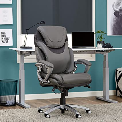 Cheap Office Chairs Amazon Mesh Image Unavailable Amazoncom Amazoncom Serta 43807 Air Health And Wellness Executive Office