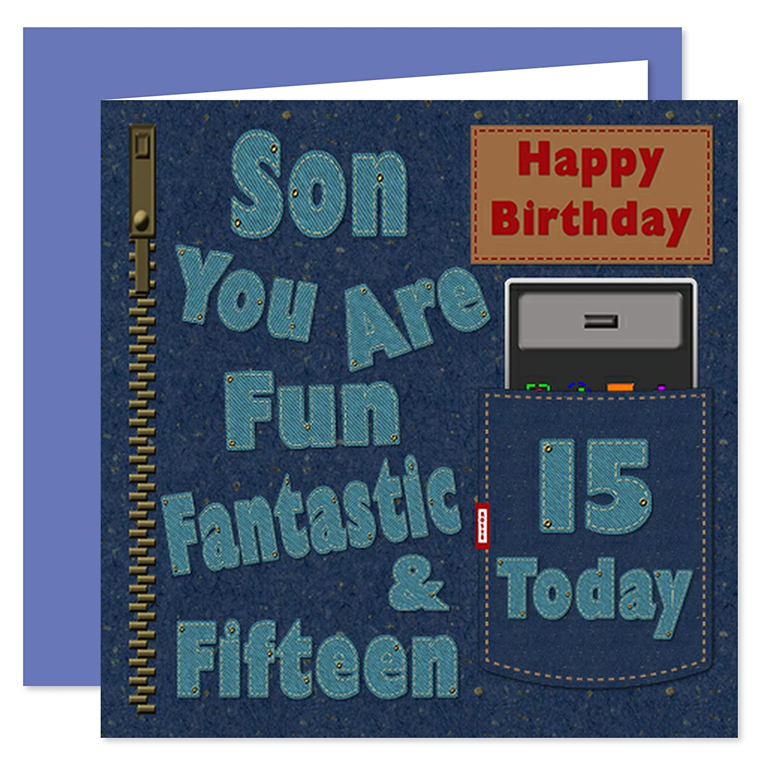 For A Special Son on your 15th Birthday Card Game Console Design