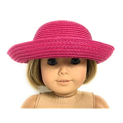 Dark Pink Hat fits 18 inch American Girl Doll Clothes: Toys & Games