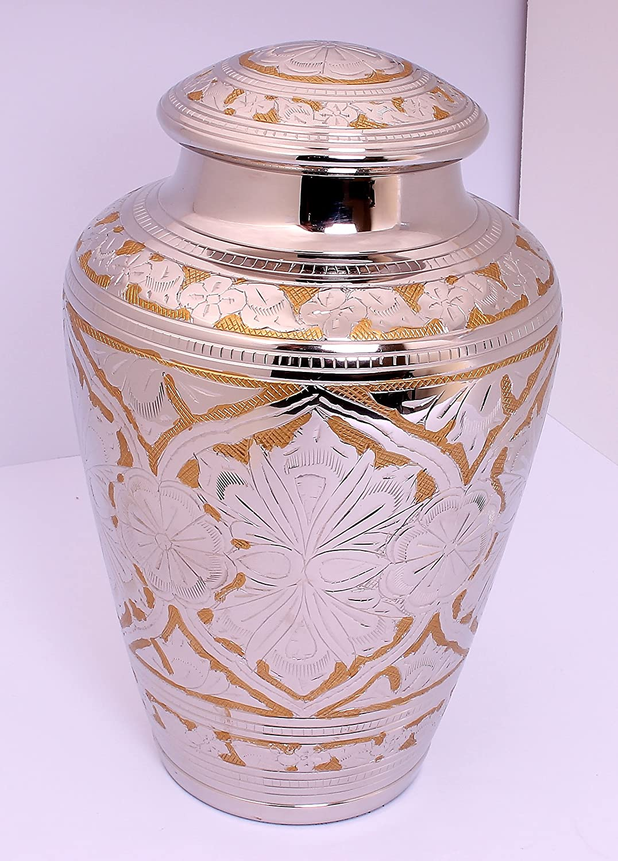 Urne für Asche, Messing Urne Erwachsene, Funeral Memorial Begräbnis Urne groß, gold und silber neues Design, Günstigen Preis