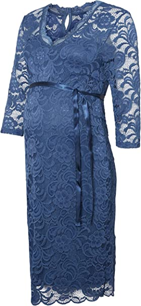 Mamalicious Milvana Elegantes Kleid Umstandsmode Jersey Spitze Amazon De Bekleidung