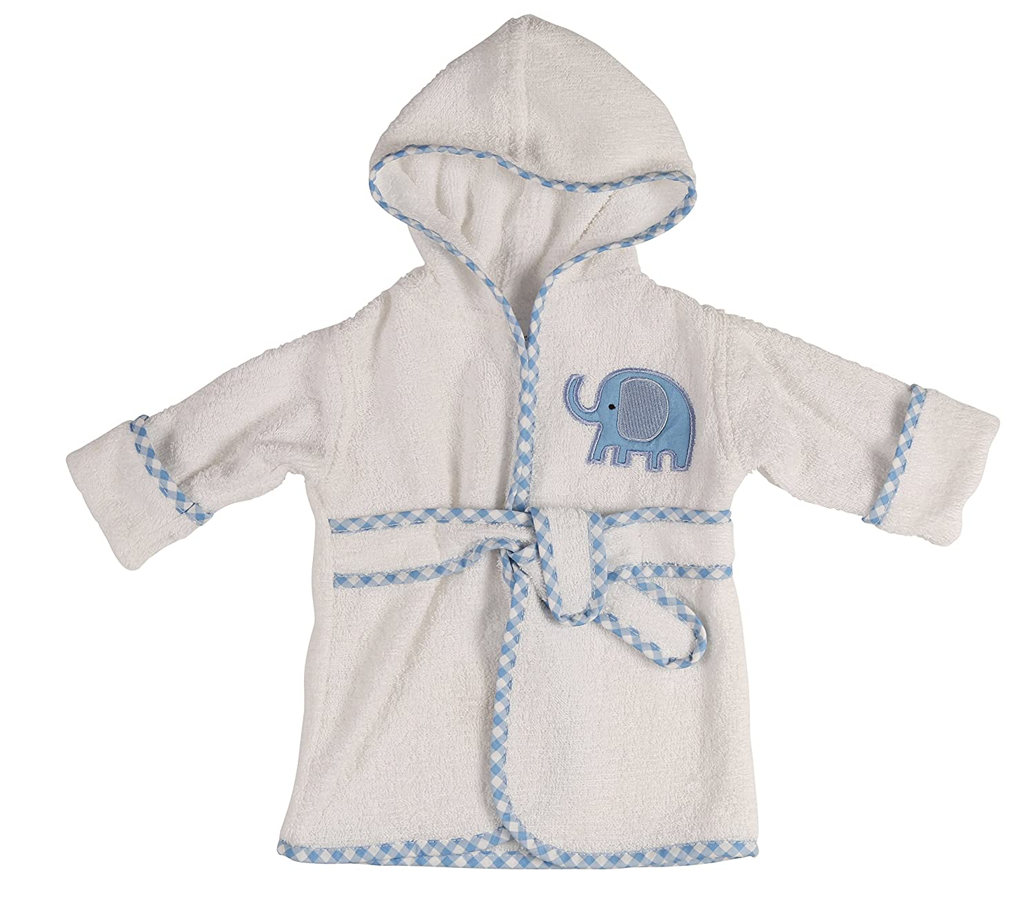Little Beginnings Infant Plush Terry Bath Robe with Elephant Applique GS70708
