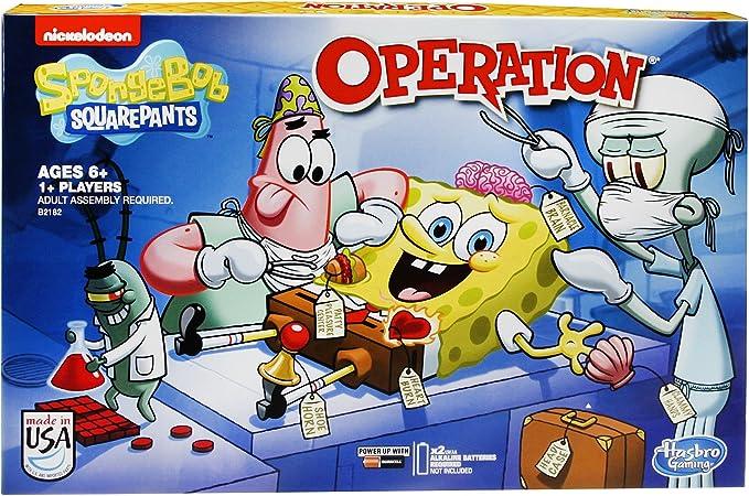 SpongeBob SquarePants Operation Game by Hasbro Gaming: Amazon.es: Juguetes y juegos