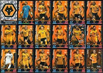 MATCH ATTAX 2018/19 18/19 WOLVES FULL 18 CARD TEAM SET - WOLVERHAMPTON
