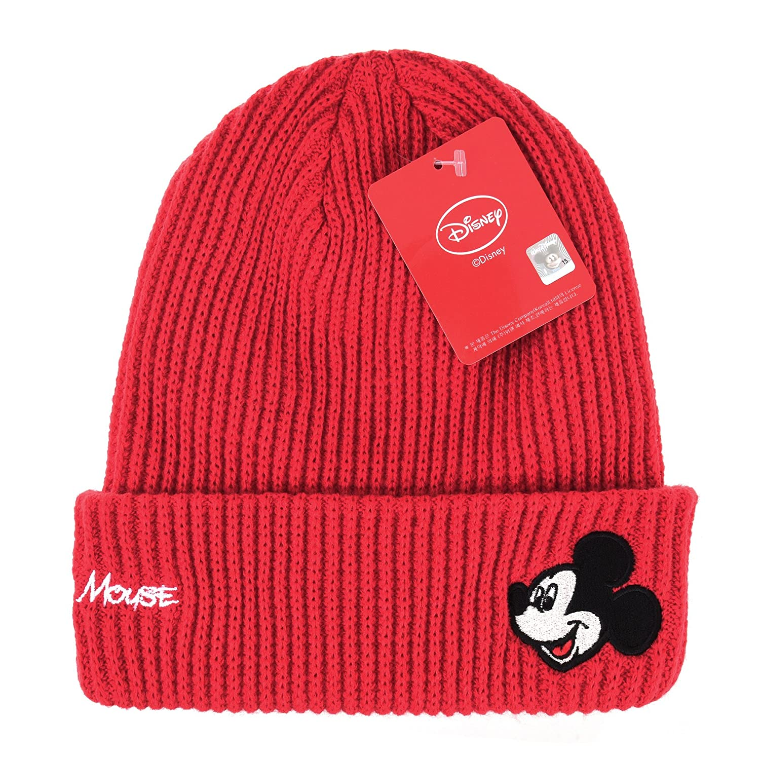 c55c8677 ... where to buy withmoons disney mickey mouse ribbed beanie hat slouchy  dw5483 red at amazon womens