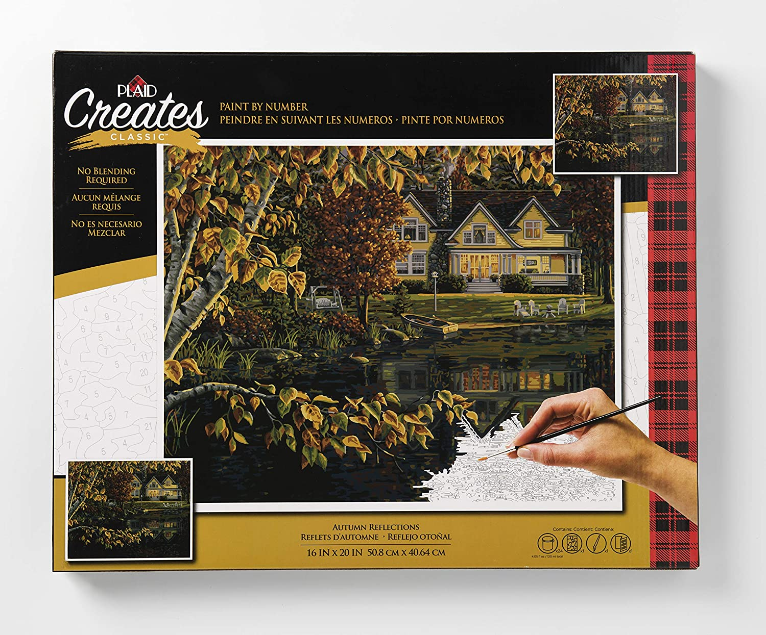 Plaid Creates Autumn Reflections Paint by Number Kit 16'X20', Multi 3 Birds 26745