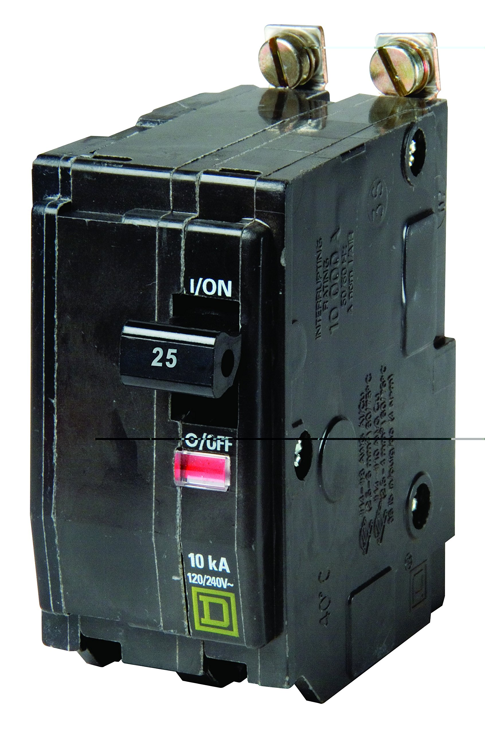 Square D by Schneider Electric QOB225CP QO 25 Amp Two-Pole Bolt-On Circuit Breaker,