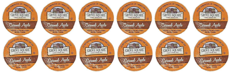 Grove Square CARAMEL HOT APPLE CIDER - 12 Single serve cups