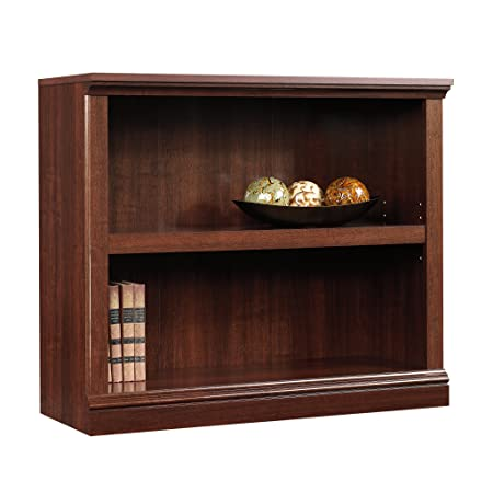 Sauder 414238 2-Shelf Bookcase, L 35.28 x W 13.23 x H 29.92 , Select Cherry finish