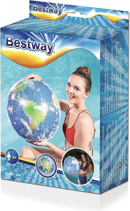 Bestway 31045 - Pelota de Playa Hinchable Globo Terráqueo 61 cm ...