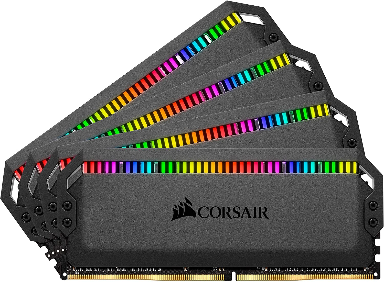 Corsair Dominator Platinum RGB 64GB (4x16GB) DDR4 3600 (PC4-28800) C16 1.35V Desktop Memory - Black