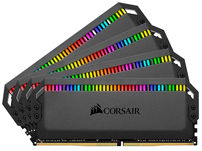 Corsair Dominator Platinum RGB 64GB (4x16GB) DDR4 3200 (PC4-25600) C16 1.35V Desktop Memory - Black