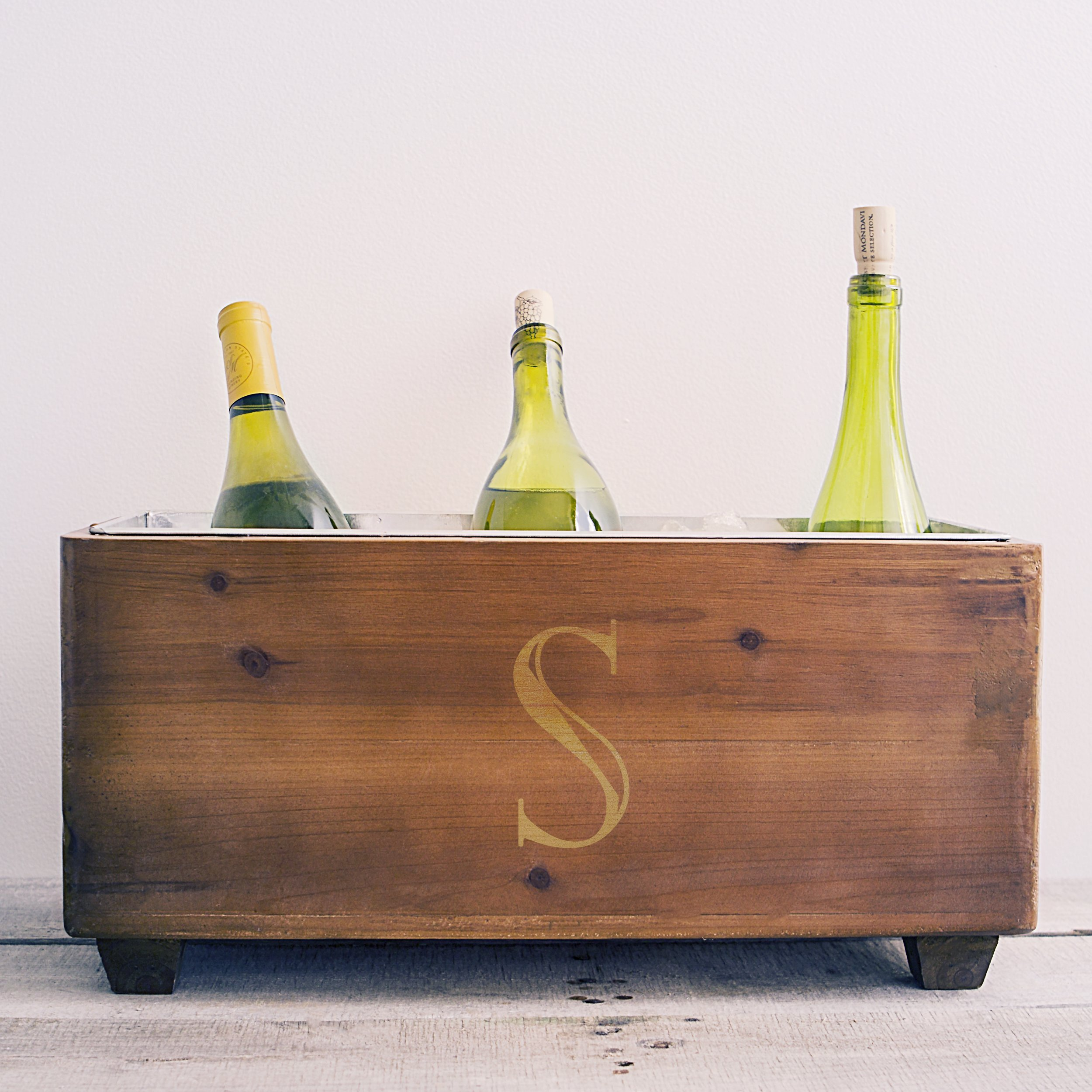 Cathy's Concepts Personalized Wooden Wine Trough, Letter S by Cathy's Concepts (Image #3)