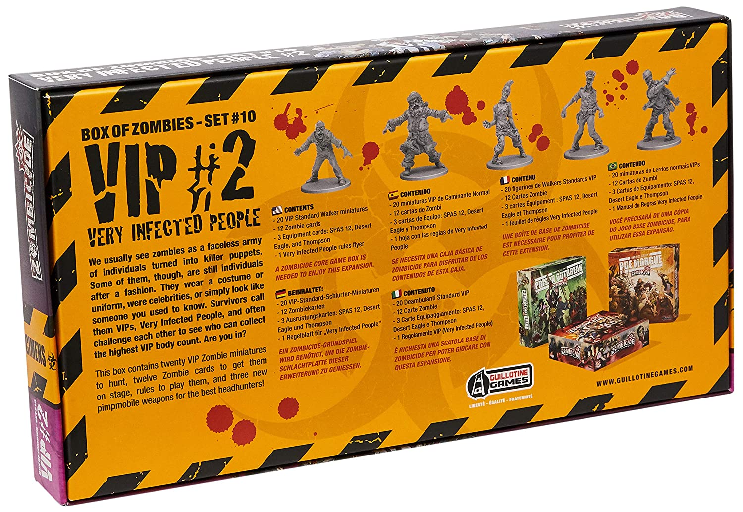 Zombicide Box of Zombies 10 Very Infected People 2 Board Game