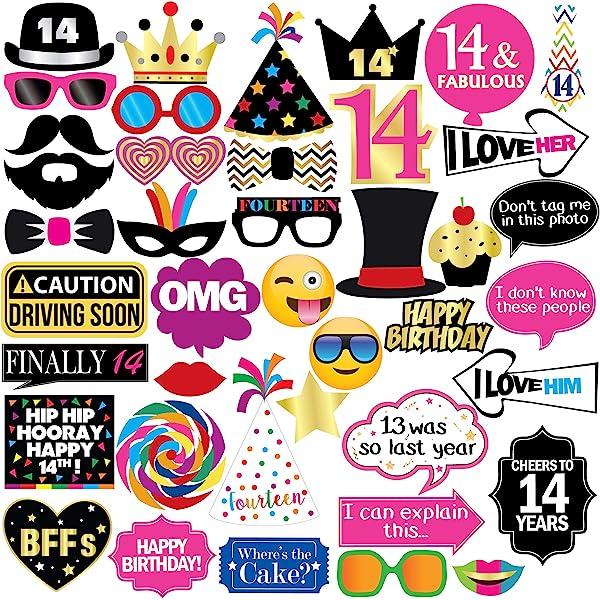 Amazon.com: 14 cumpleaños decoraciones suministros de fiesta ...