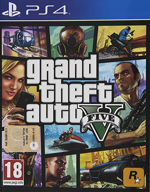 555 opinioni per Grand Theft Auto V (GTA V)- PlayStation 4