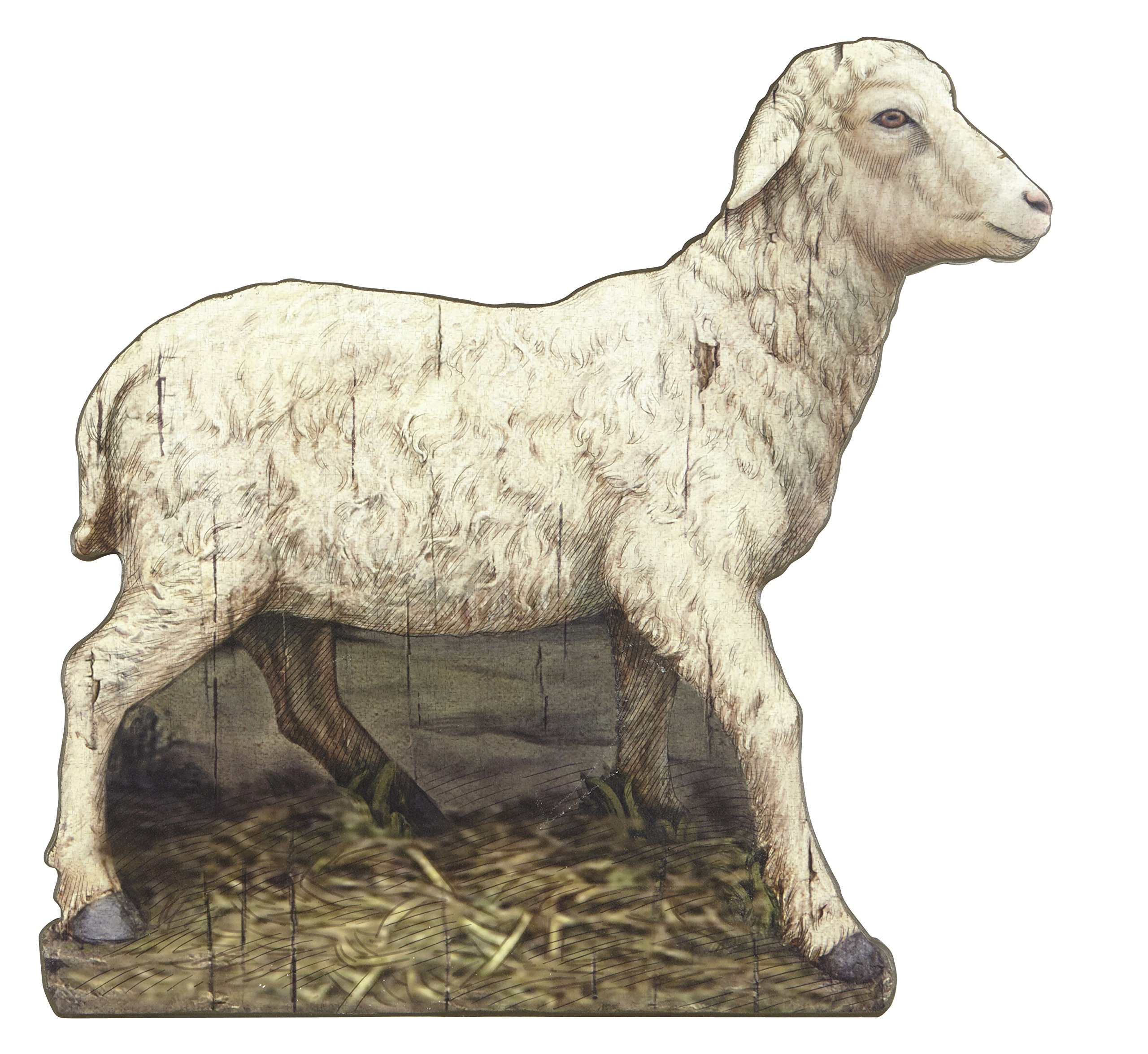 Animals (Lamb and Cow) Nativity Plaque Set