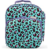 """Insulated Durable Lunch Bag - Reusable Lunch Box Meal Tote with Handle and Pockets, Works with Bentology Bento Box, Bentgo, Kinsho, Yumbox (10""""x8""""x3.5"""") - Great -Cheetah"""